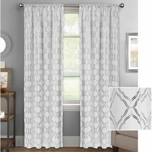 Better Homes Gardens Metallic Foil Trellis Curtain